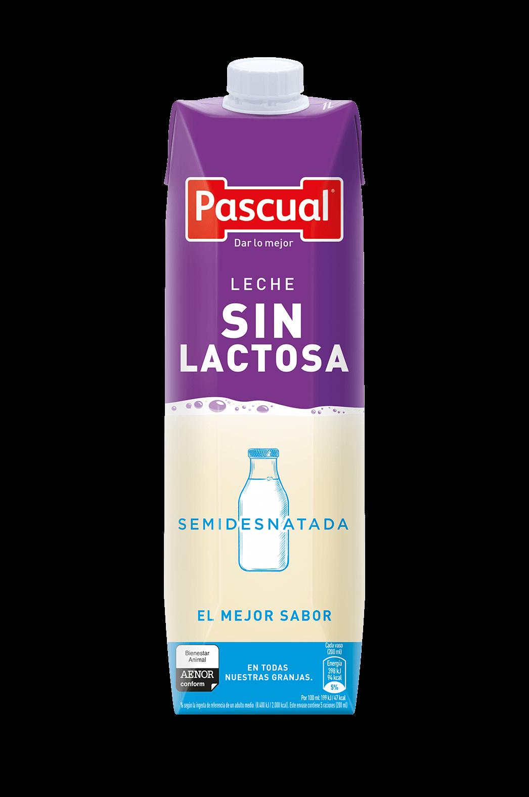 Leche Sin Lactosa Semidesnatada - Leche de Bienestar Animal