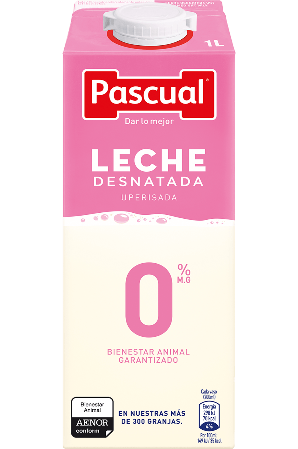 Leche Desnatada Pascual - Leche de Bienestar Animal