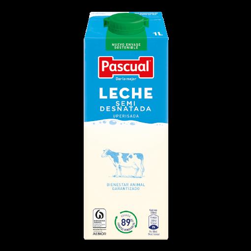 leche semidesnatada info nutricional