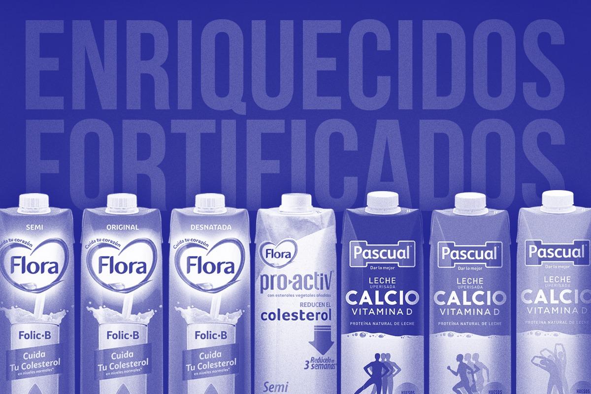 lácteos fortificados - leche pascual