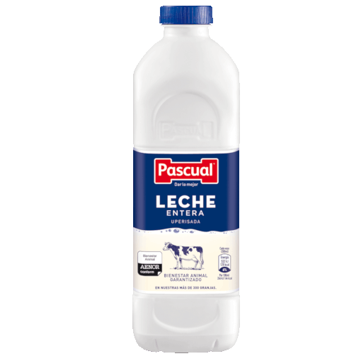 Botella leche Entera Pascual - Leche de Bienestar Animal
