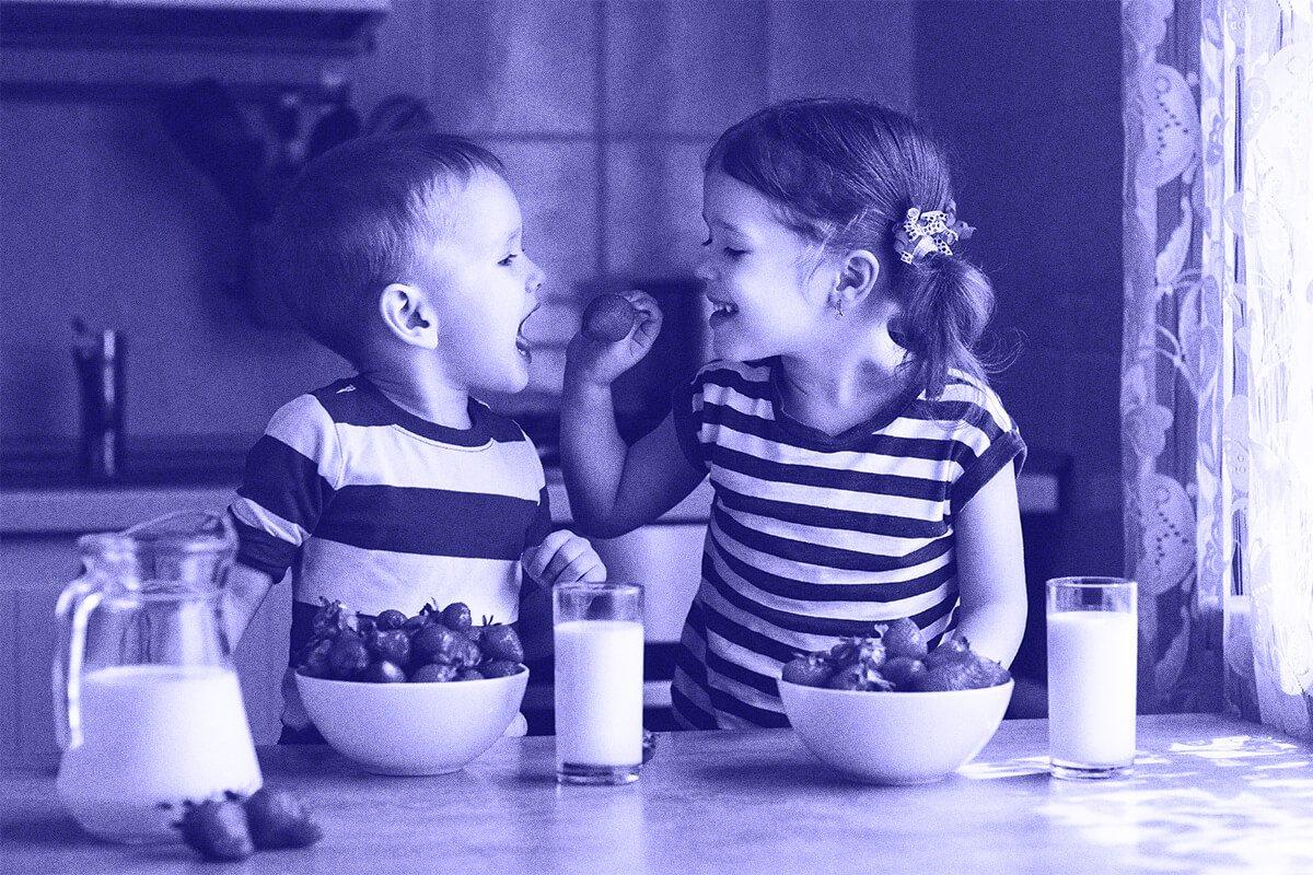 meriendas niños leche