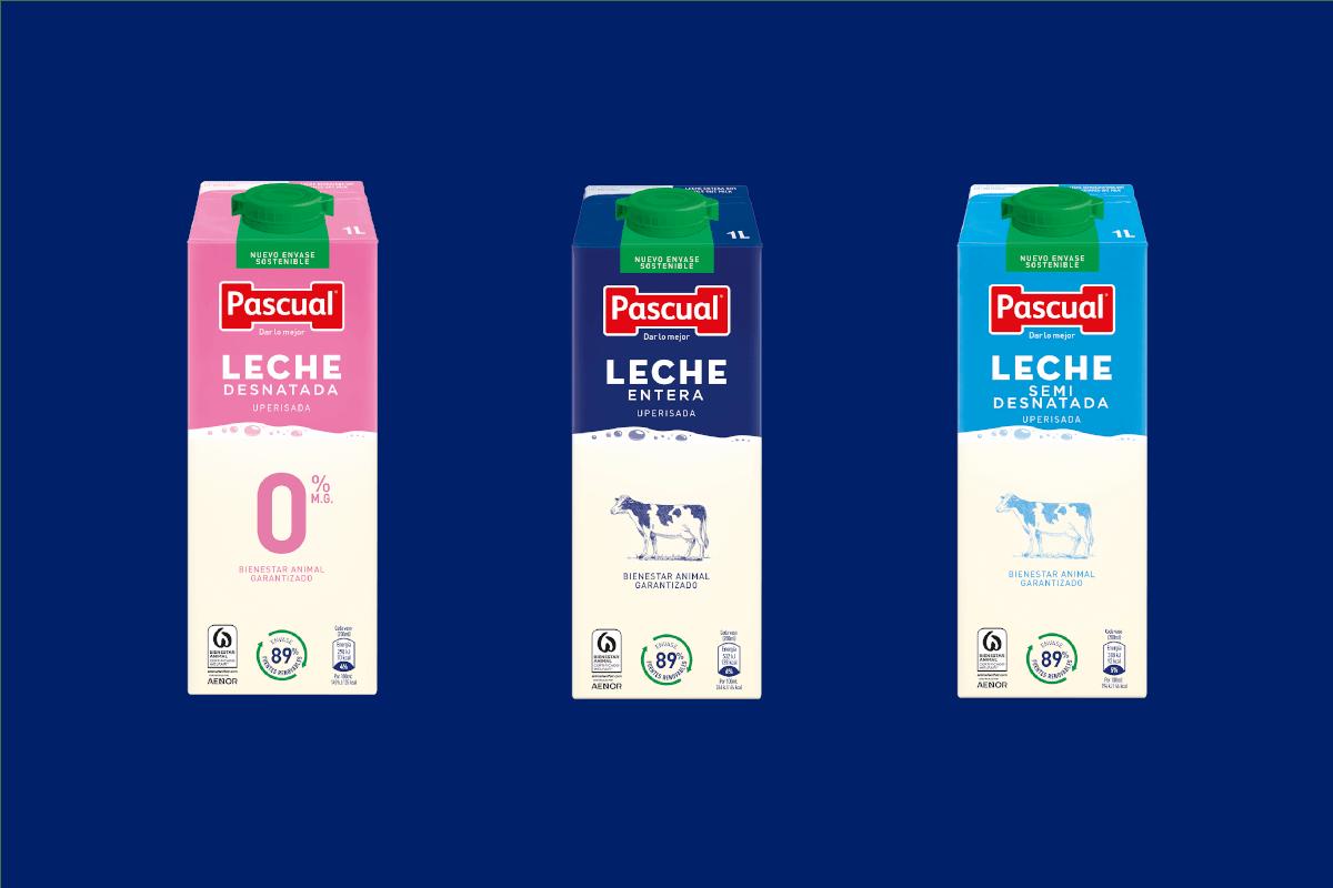 leche entera semidesnatada y desnatada